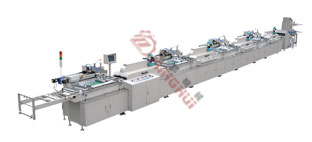 MHS-300 Strip-type four color Auto Silk Screen Printing Machine