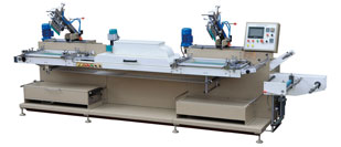 MHS-226 fabric label screen printing machine (roll to roll)