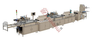 MHS-300 Type 2-color Fully Auto Silk Screen Printing Machine(roll to roll)